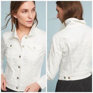 Anthro Pilcro embroidered denim jacket XSP